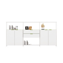 office room Decorative customized white wooden filing cabinet