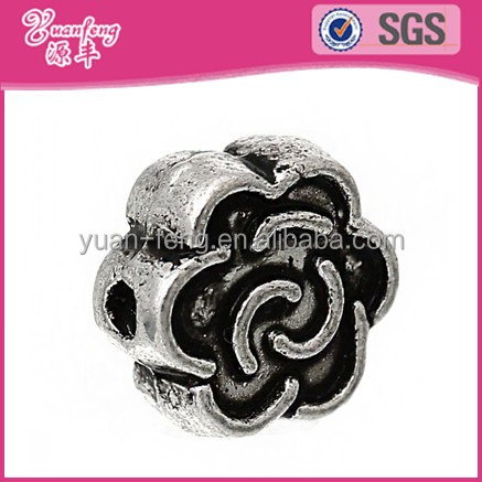 Classic Pave Beads For Silver Jewelry Wholesale Gold Plated Beads