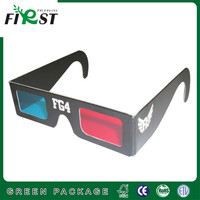 So Cool!! Customize Paper Chromadepth 3D Glasses,black paper 3D glasses,Anaglyphic paper 3d glasses