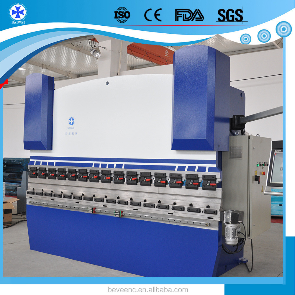 2016 plate small auto automatic WC67K-40/3200 Hydraulic manual plate bending machine price with DA52S CNC System