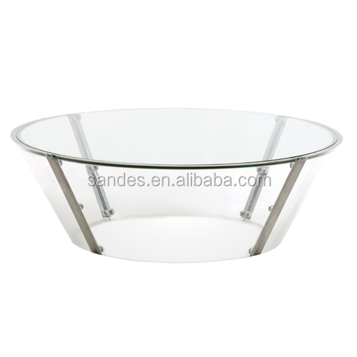 Fashionable Double Layers Acrylic Round Dining Table