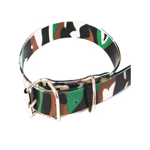 2018 Secure Top Paw Tpu Coated Webbing Camouflage Dog Collars