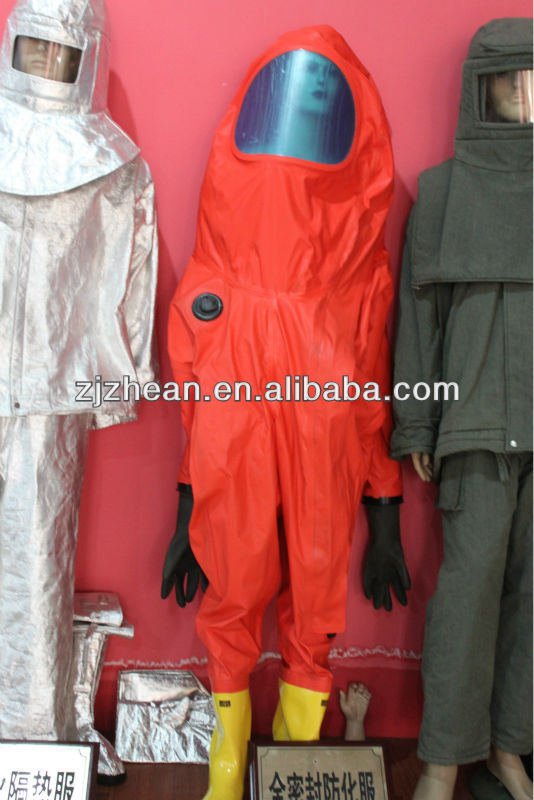 Omniseal Type chemical protective safety suit / gas tight chemical suit on sales