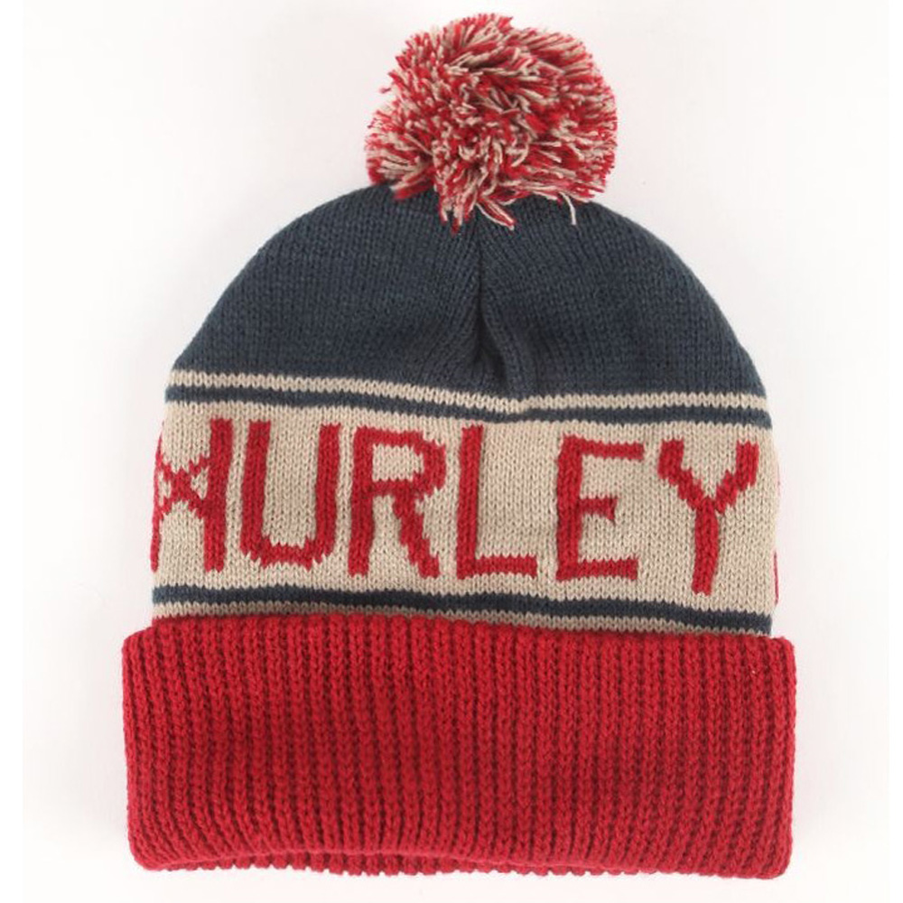 2016 label patch stripe beanie hat/funny lady knitted hat