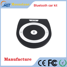 New Stereo Bass Wireless Bluetooth Car Kit Speaker Bluetooth Handsfree For Iphone Samsung
