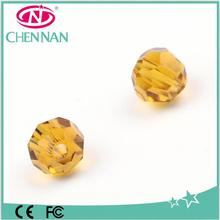 Pujiang Glass beads manufacturer factory outlets 32 faceted round decorative glass beads in bulk