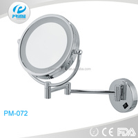Hotel bathroom wall mounted magnifying makeup mirror