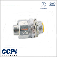 "High Quality UL Standard 1/2""-2"" Malleable Iron Zinc Planted LT Ground Connector Straight Connector"