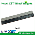 black plastic coated wheel weights