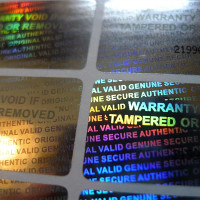 Custom Serial Number Security 3D Hologram Tamper Evident Warranty Labels Stickers