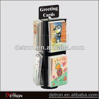 Praticial hot acrylic greeting card display spinner