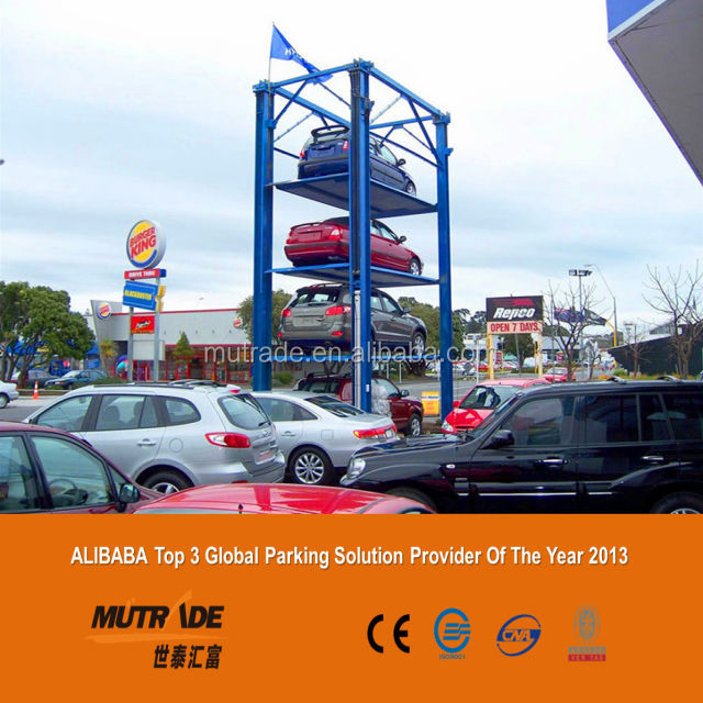 hydraulic American steel stacker car parking