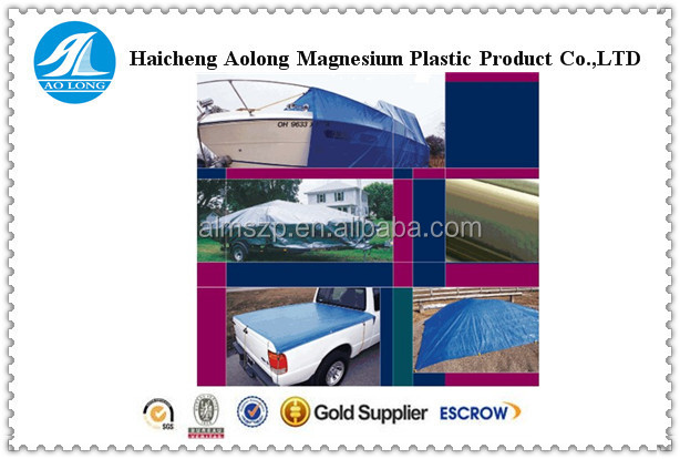 pool cover fabric & pe tarpaulin sheet with pp rope and aluminum eyelet