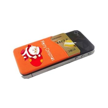 Newest christmas gift promotion item 3m sticker mobile card holder cell phone credit card holder