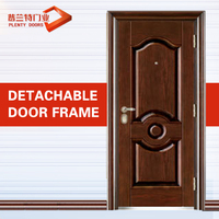 Vinyl exterior water heat-transfer walnut steel door