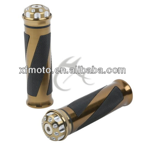 New Motorcycle Aluminum Rubber Gel Hand Grips For 7/8