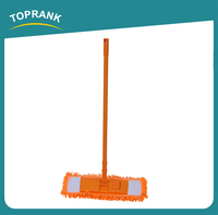 Toprank Cheap Cleaning Mops Microfiber Chenille Flat Floor Cleaning Industrial Mop