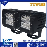 Y&T YTW18S hot sale Excellent Auto Lighting 3 Inch Flood/Spot Led Work Light For Vehicles