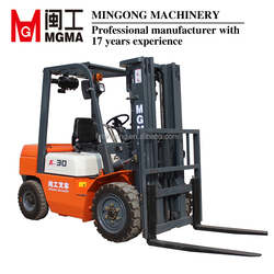 Diesel forklift truck 3 tons with 3 stage mast and clamp for Philippines