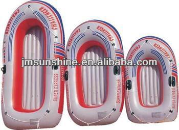 pvc inflatable plastic boat with paddles/PVC boat