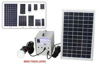 Solar power system with solar panel / battery / inverter / solar controller