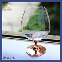 2016 New design clear crystal mini colored brandy glass pieces for crafts
