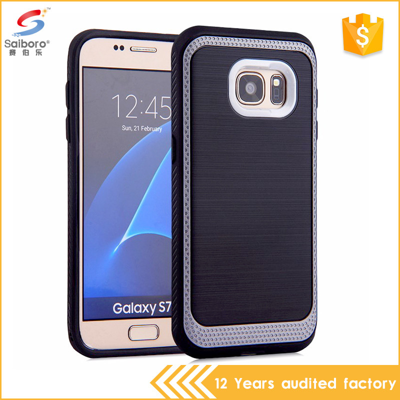 Fancy design soft tpu brushed phone case for samsung Galaxy S7, tpu protective fundas for Samsung S7