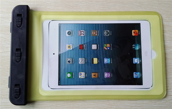 China supplier yellow pvc waterproof case for iPad mini 16GB for swimming