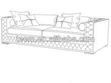 Divany Furniture living room furniture sofa LS-105C develop home furniture lcd wall unit design