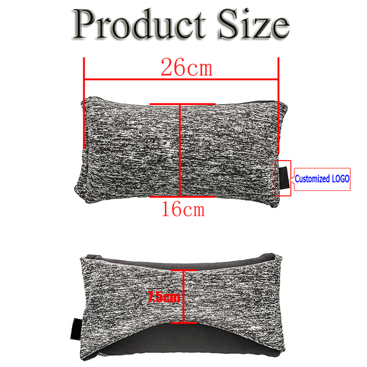 Amazon 3D Cotton Fabric Soft Support Travel Neck Pillow Voyage U Shape 2 in 1 Microbeads Sleep  Neck Travel Eye Mask Pillow