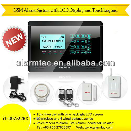 New Touch screen GSM module wireless home business anti-lost alarm systems with remote listening devices