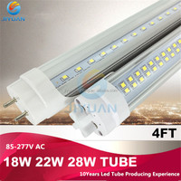 Professional 2015 Hot led tube t8 18w 100lm/w Base E26/E27 CRI 80 PF0.9 with milky cover made in China