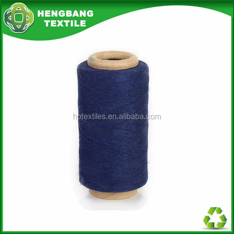 HB742 Blended recycled open end denim yarn cotton waste buyers stock-lot in korea