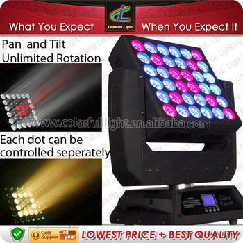 LED Moving Head Matrix Panel with Unlimited Flexible Rotation