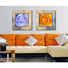 New Coming Cheap Home Decoration Single Rose Flower Painting Designs