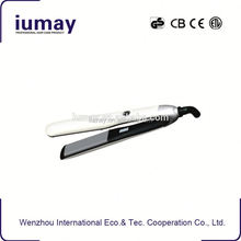 Mini travel flat iron hair straightener with car plug