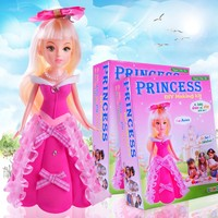 Plush baby doll with dress princess dolls kids diy educational toys