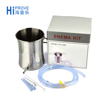 Stainless steel Enema Bucket Kit 2L For Enema Coffee Colon Cleaning