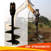 Rated earth auger attachment for mini excavator