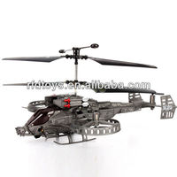 4 Channel Infrared Remote Control 4CH RC Helicopter with GYRO J6683 helicopter LED Gray RTF