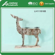 deer wooden decorative floor candle stand