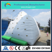 Funny inflatable water iceberg/inflatable climbing wall for sale