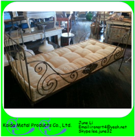 Ornamental iron frame bed latest metal bed designs pictures of double bed