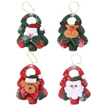 2PCs New Christmas Ornaments Santa Claus Pendants