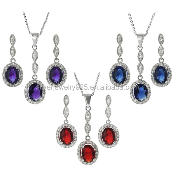 2017 Factory China Wholesale 925 Silver Beautiful Jewelry Set