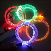 factory price custom led usb cable electronics usb cable with led light