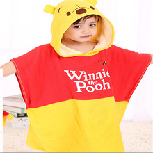 Alibaba China cotton home textile for children colorful cartoon soft cloak baby hooded bath towel