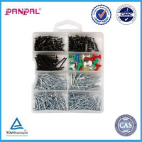 2015 Alibaba Fasteners 750pcs Steel Round Common Wire Nail Assortment