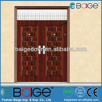 BG-S9108 Front transom double house door steel design