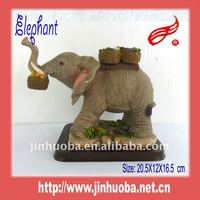 Resin Elephant With Carrying Vegetables Decoration